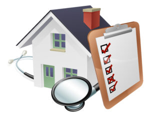 House with a checklist for your mortgage checkup.