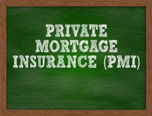 A chalkboard with Private Mortgage Insurance written on it.