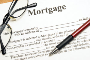 A mortgage agreement.