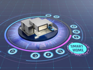 A smart home on a grid of technology