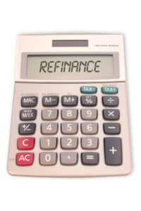 A calculator telling you to refinance your mortgage.