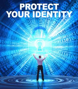 Man protecting his digital identity.