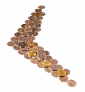 A boomerang made of pennies as an example of a boomerang buyer.