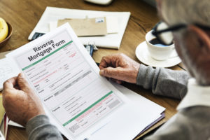 A reverse mortgage form.